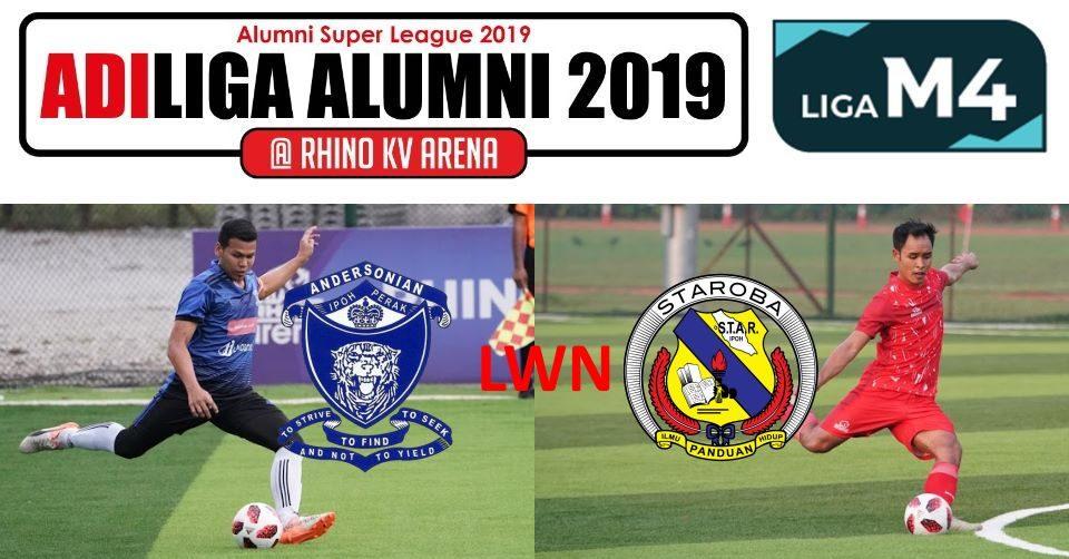 AdiLiga Alumni 2019 Andersonian lwn STAROBA